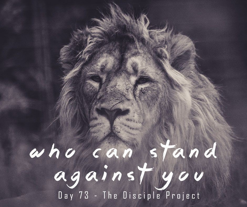 Day 73 - Who Can Stand Against You?