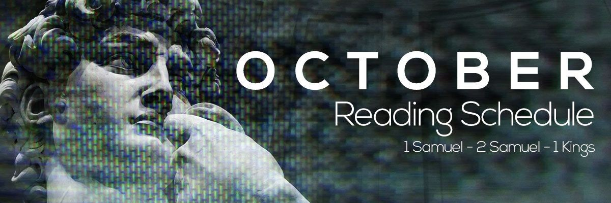 October Reading Schedule - The Disciple Project